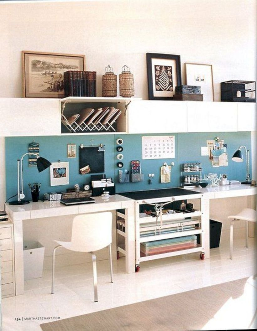 Creative Art Studio Organization Ideas For Workspace Desks ...