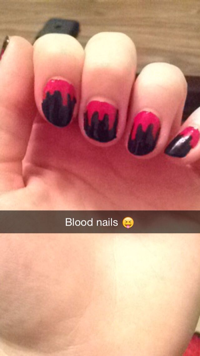 Blood nails for Halloween