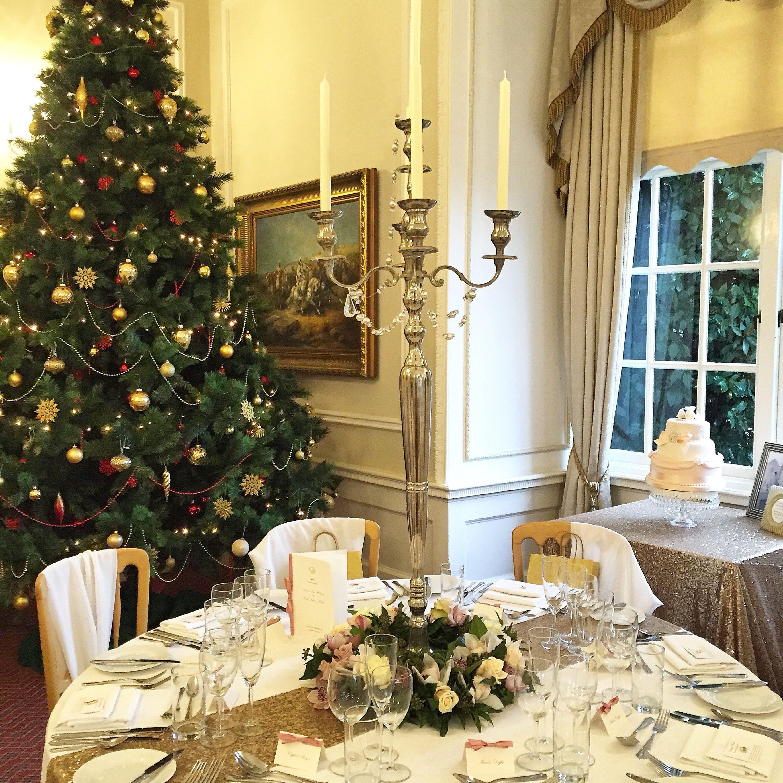 Christmas Wedding Table Set Up Arrangement Christmas Wedding Table Wedding Venues Yorkshire Wedding Table Settings