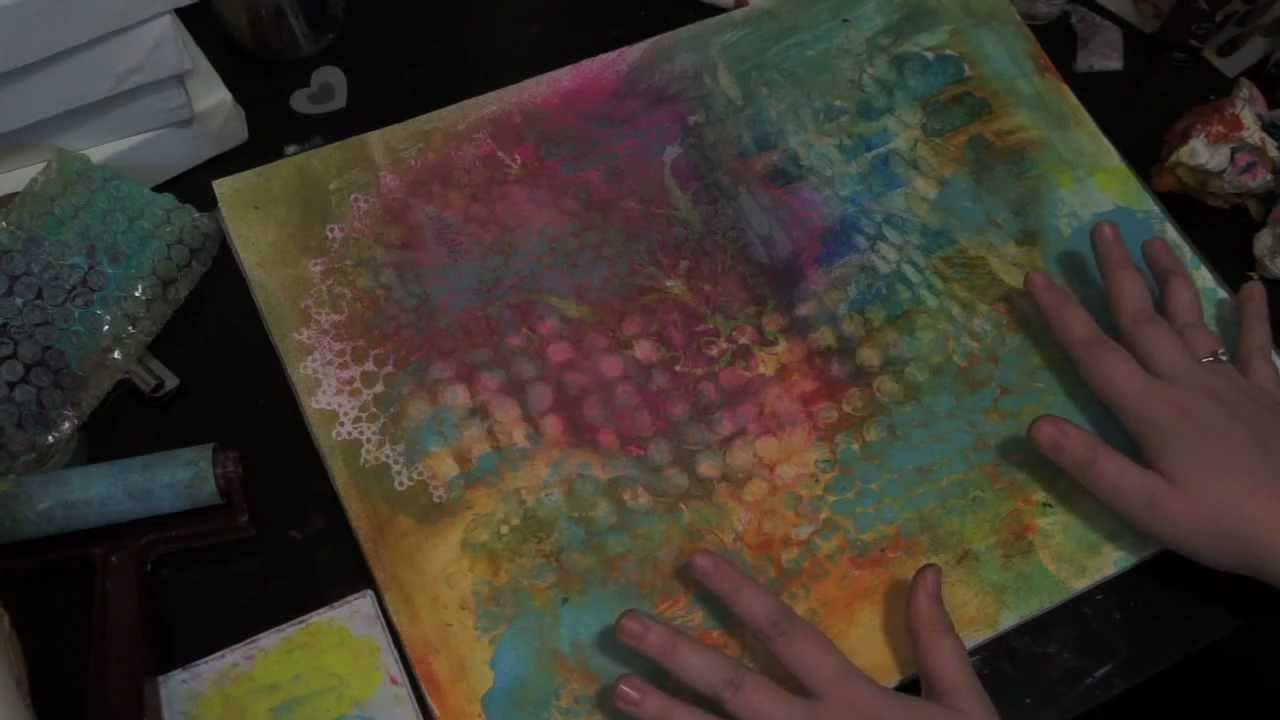 Creating A Spray Ink Textured Art Journal Background Via