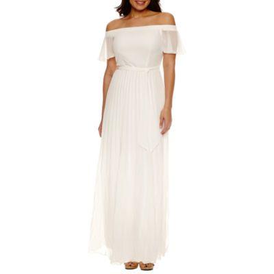 a03471d84022 Bisou Bisou Off the Shoulder Maxi Dress - JCPenney Vestidos Simples