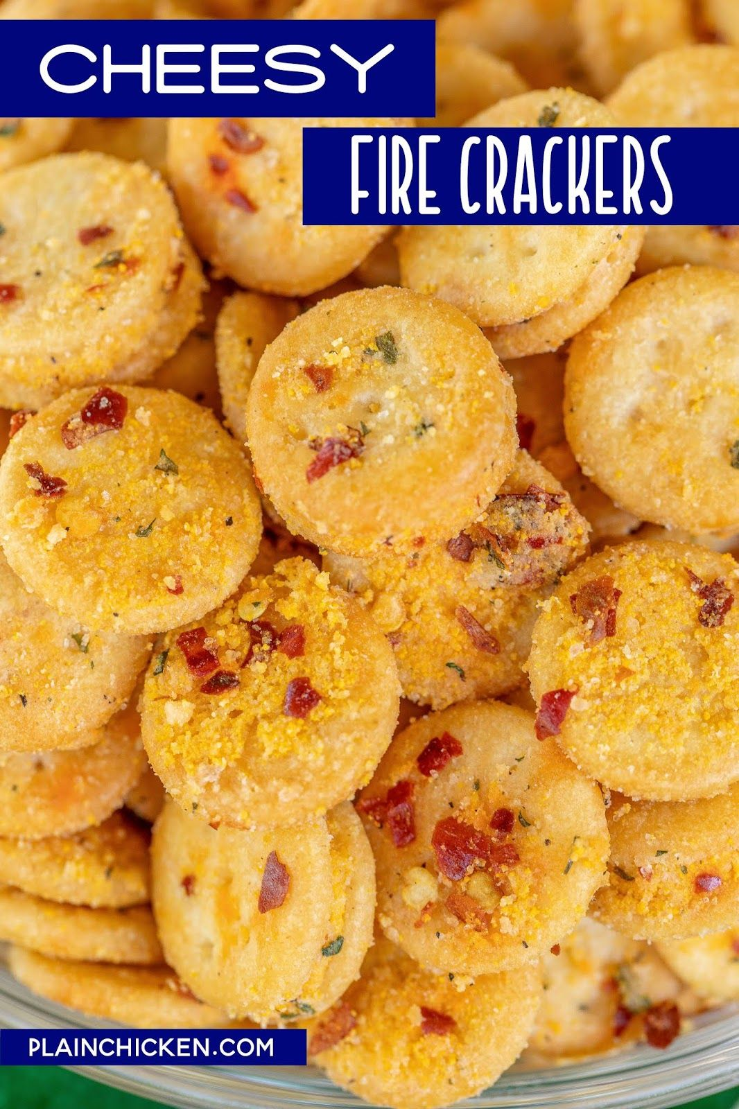 Cheesy fire crackers spicy cheese ritz bits only 4