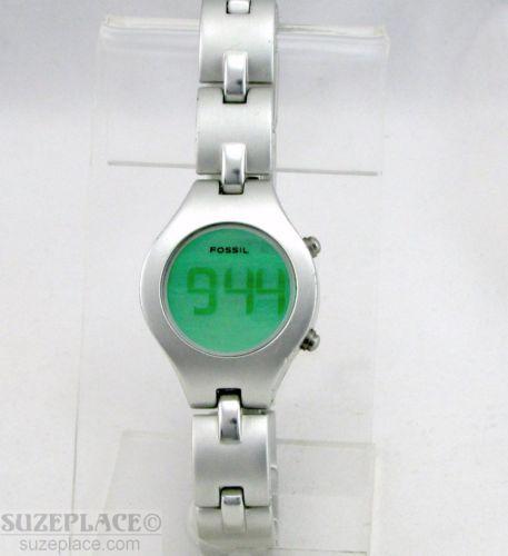 b89574f227d2 Fossil F2 Aluminum Ladies Digital Watch Date Seconds WR 100 ft 30 MT ES9116  SuzePlace.com