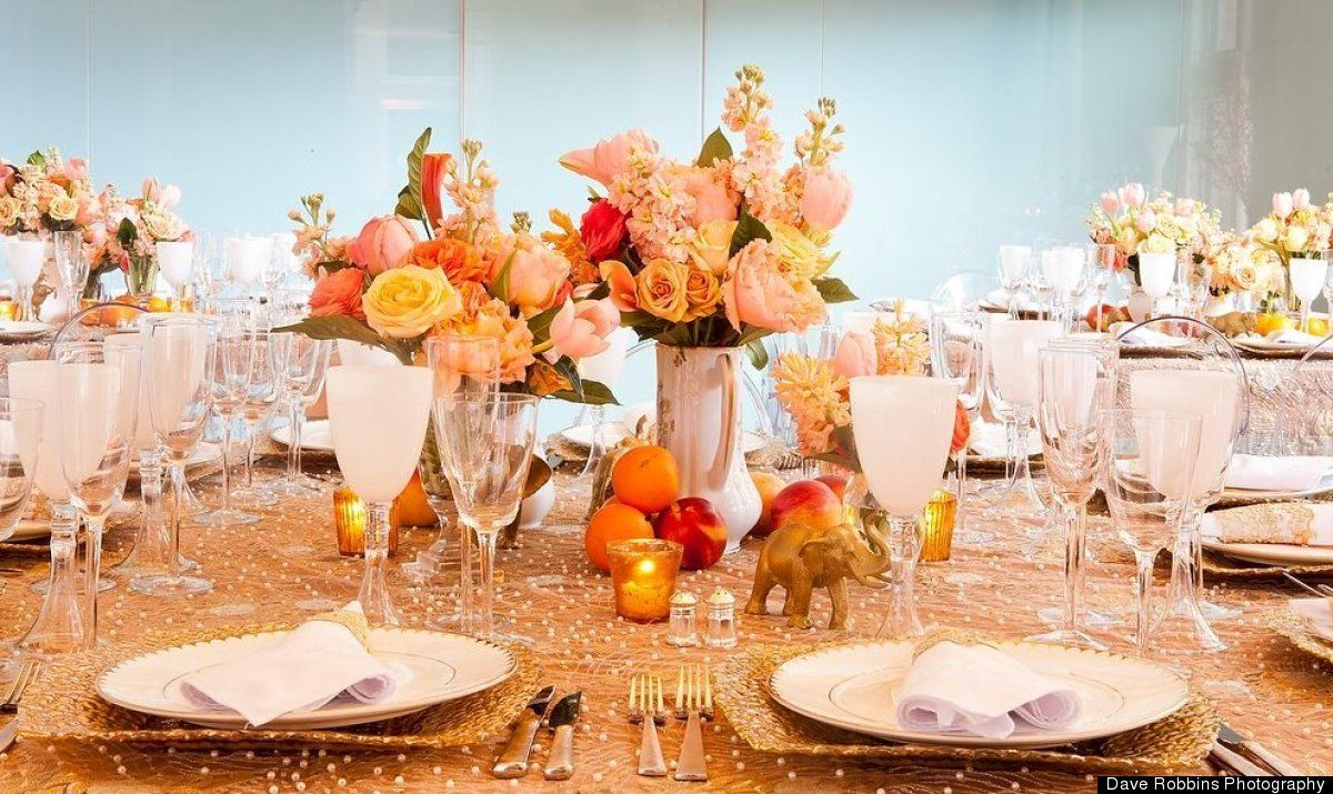 Wedding reception decoration images  Use Props for your reception tables Books different sized vases
