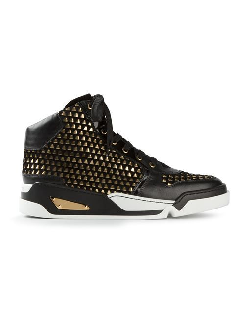 Versace Studded Hi-top Sneakers - Elite - Farfetch.com | men's fashion in 2019 | Sneakers, Shoes ...