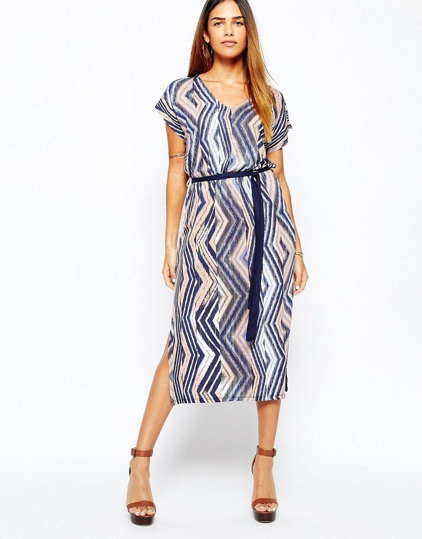 Warehouse+Aztec+Belted+Midi+Dress · Modest DressesMidi DressesWoman ...