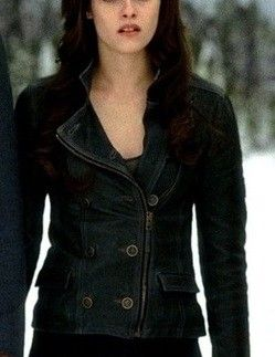 b5814d1c3f292 Kristen Stewart as Bella Swan Leather Jacket Costume - Twilight Breaking  Dawn