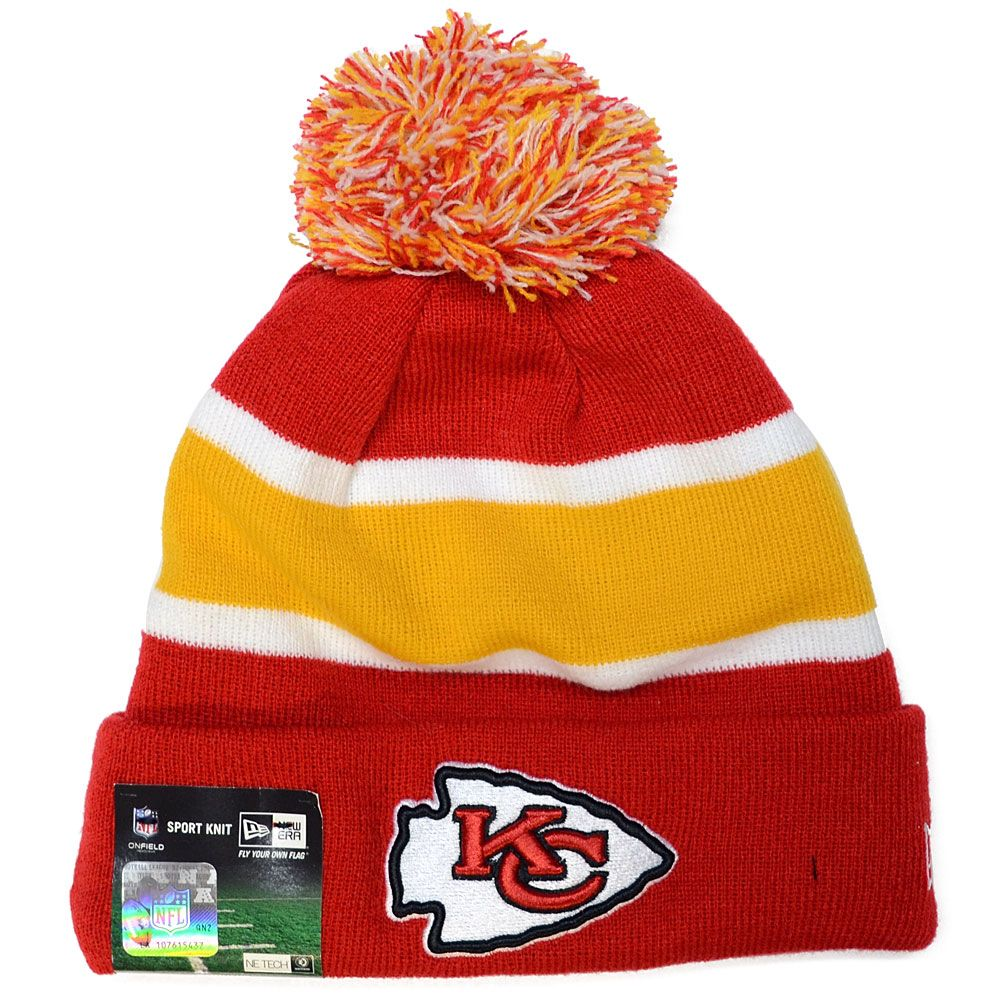 competitive price 7f930 fd028 New Era Kansas City Chiefs NFL Knit Hat Cap Winter Beanie Skullcap 11460394    Products   Kansas City Chiefs, Knitted hats, Hats