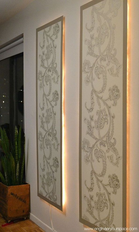 Diy Lighted Wall Panel Would Be Great As A Headboard