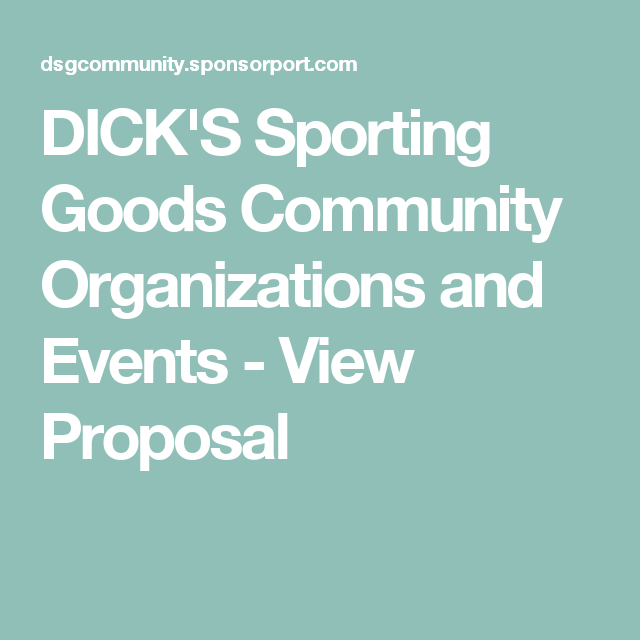 Dicks Sporting Goods Community Organizations And Events View