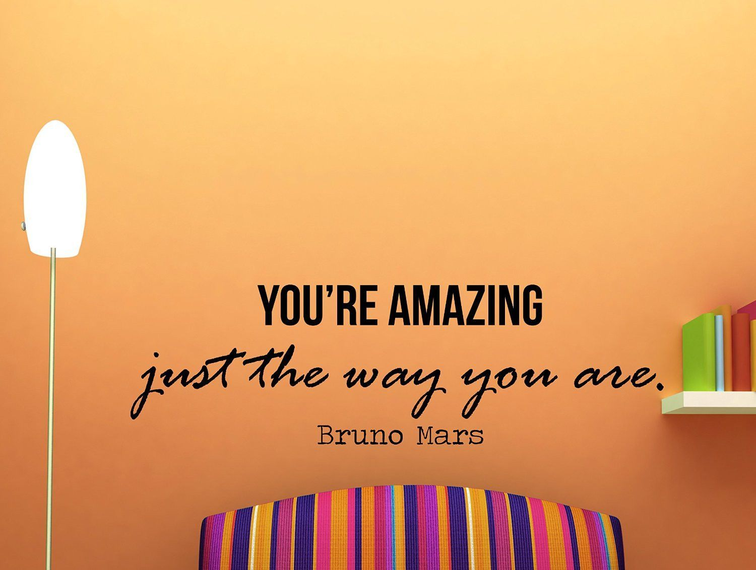 Bruno Mars Quote Inspirational Wall Decal Typography Home Decor You Re Amazing Just The Way Y Inspirational Wall Decals Bruno Mars Quotes Inspirational Quotes
