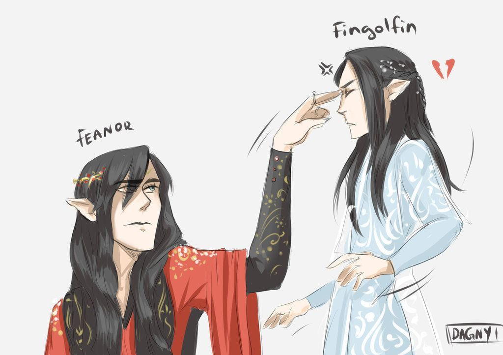 Silly Young Brother By Dagnyart Feanor And Fingolfin Amateur