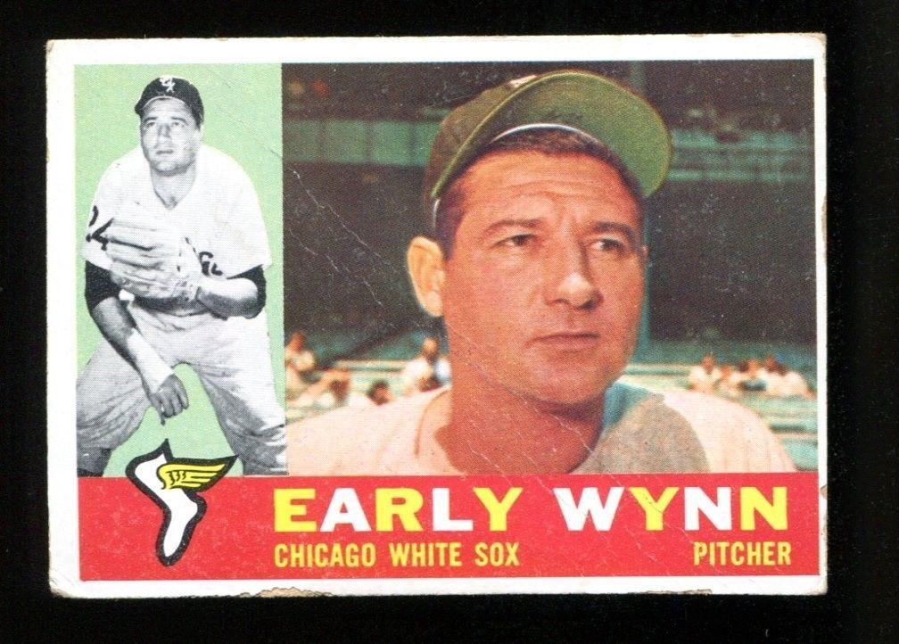 Early wynn 1960 topps 1 white sox ex 29412 old baseball