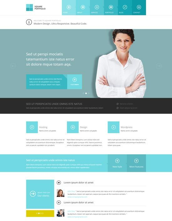 Square Responsive Html Business Template Business Website