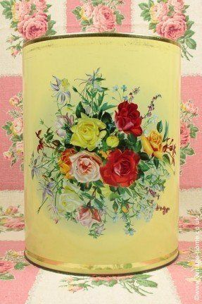 Vintage Home - Splendour of Roses Kitchen Storage Tin.