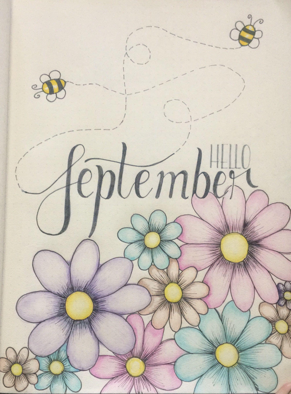 My September spring bullet journal cover! It's Spring in South Africa peeps