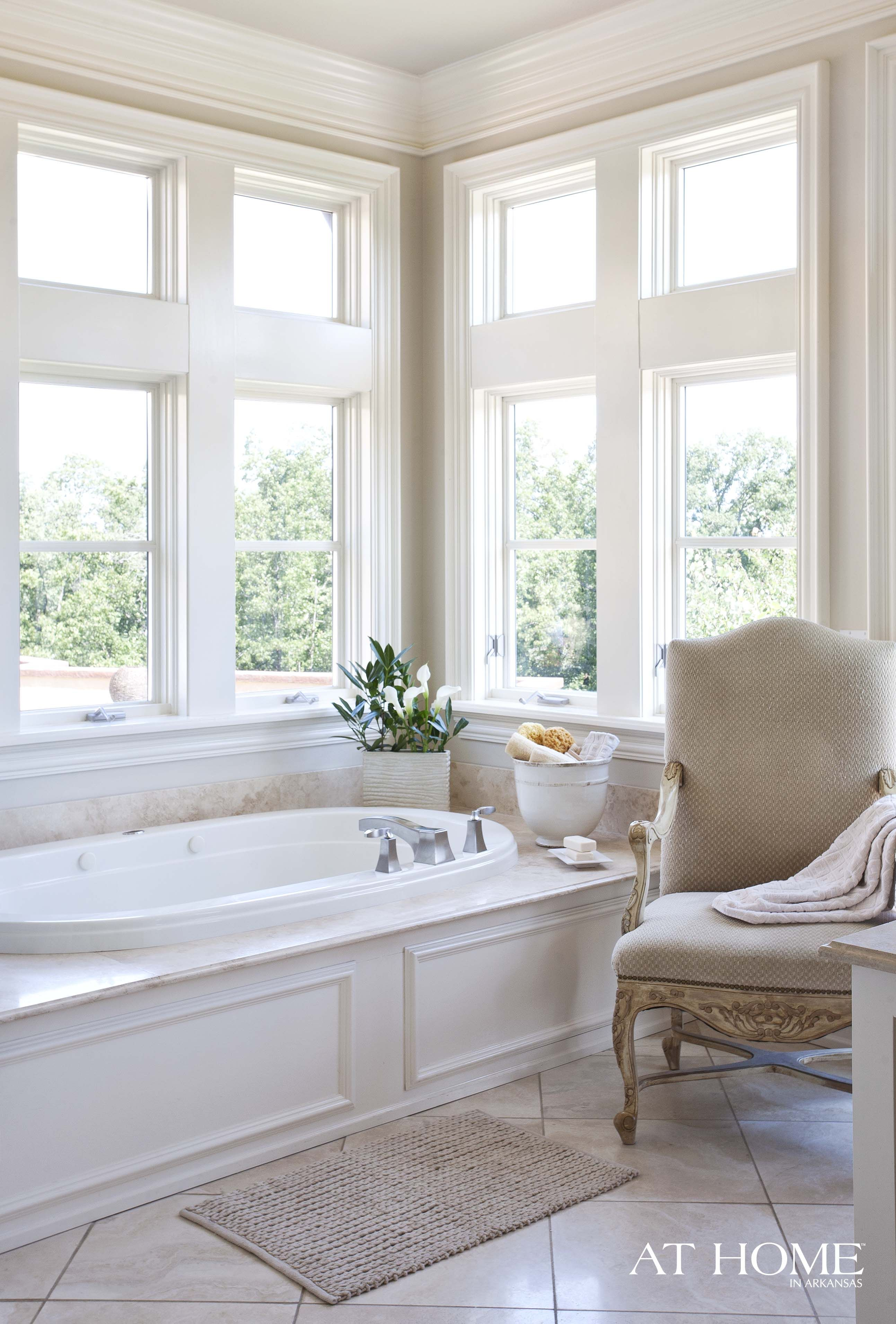 Lovely windows make for a bright room - great for beach house ...