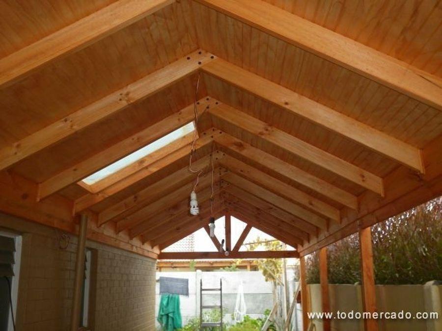 Cobertizo de madera buscar con google ideas para el for Cobertizos para terrazas