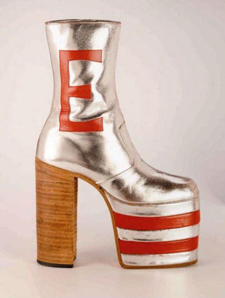 77aa09018d4 1970 s - Disco Platform Shoe ----------- This particular disco platform  belonged to Elton John