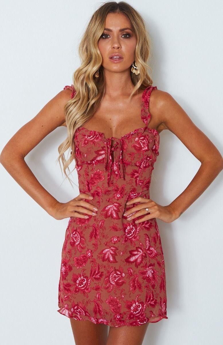 Sweet Fling Mini Dress Fuchsia Pink Print  81c9e35e3