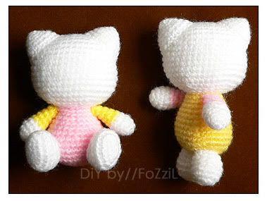 Amigurumi Patterns Sanrio Free : Gang fozzil เหมียวคุตตู้ repost hello kitty free