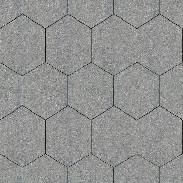 Tileable hexagonal stone pavement texture maps for Terrace tiles texture