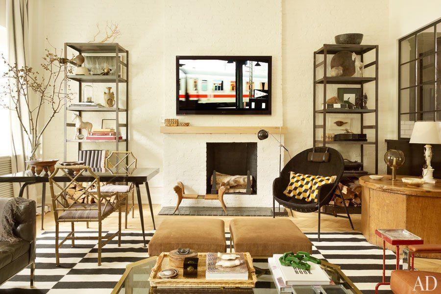 Pin von Erin Hiemstra / Apartment 34 auf loft ideas Pinterest - wohnzimmer braun ideen