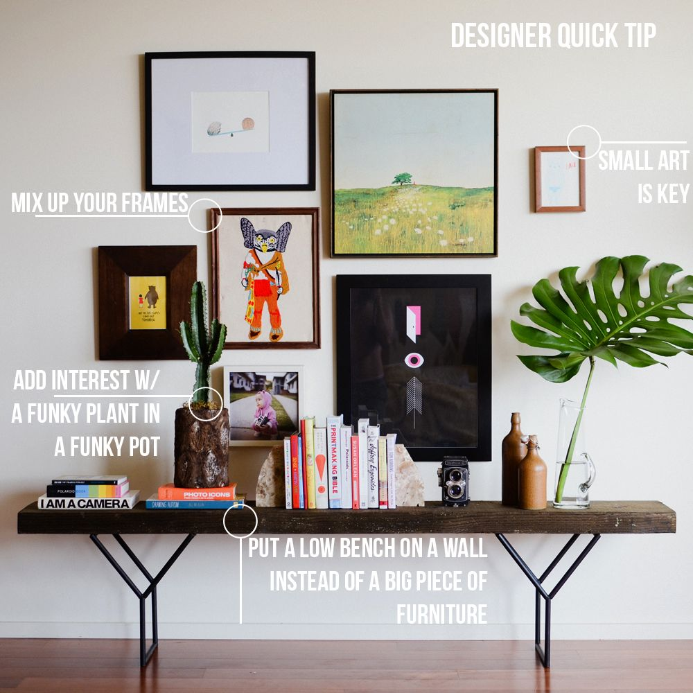 Great tips styling pinterest gallery wall bench and interiors