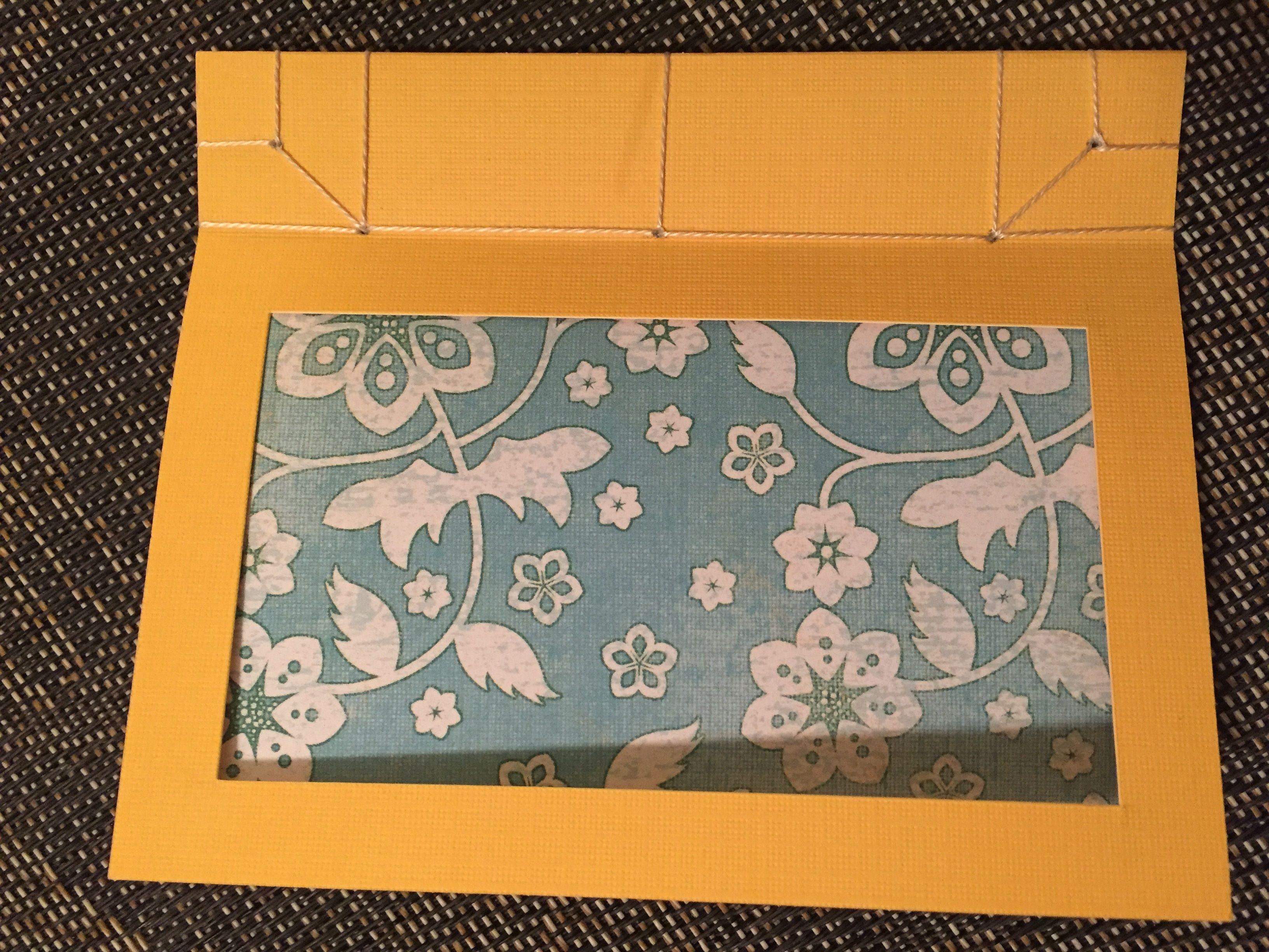 Handmade post card, Japanese Binding method