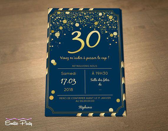 Épinglé sur carte invitation anniversaire adulte diy