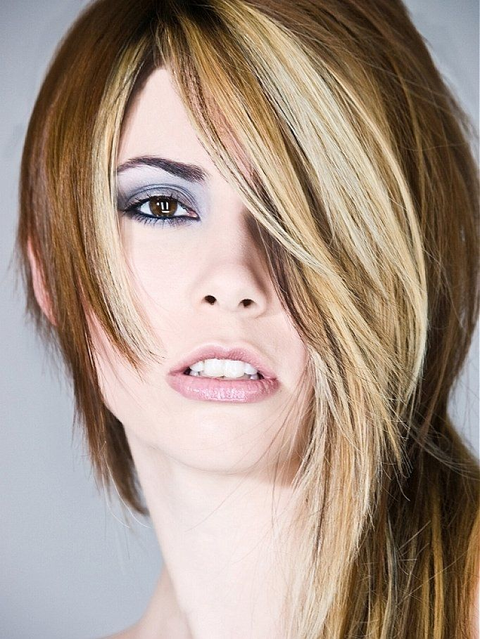 Highlight Asymmetrical Long Haircut For Women Hair 2016