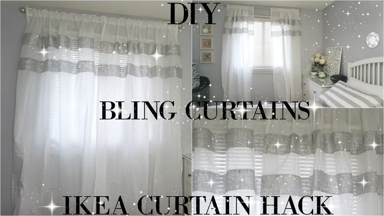 Diy Curtains Totally Dazzled Diy Bling Curtains Ikea Curtain Hack Ikea Curtains Diy Drapes Diy Shower Curtain