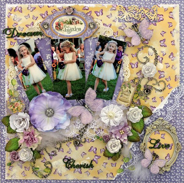 Reneabouquets's Gallery: Flower Girl **SCRAPS OF ELEGANCE** March Kit-Spring's Promise