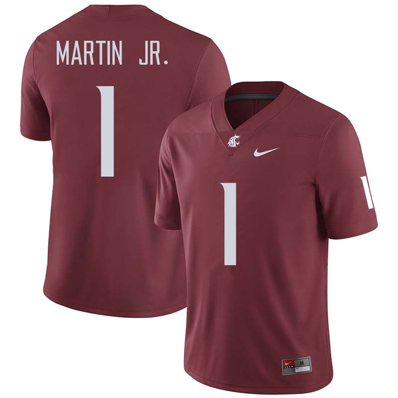 80969de38f4 Men  1 Tavares Martin Jr. Washington State Cougars College Football Jerseys  Sale-Crimson