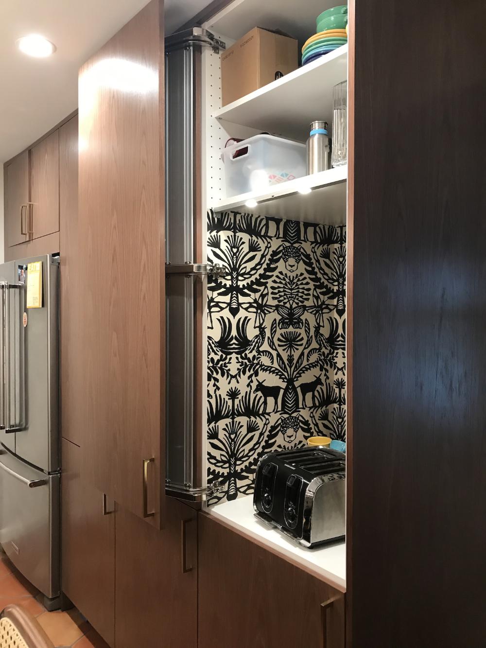Kitchen SEKTION Ikea Hack shallower cane doors
