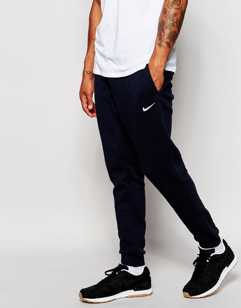 66a30d23 Mens Nike Joggers Black Fleece Skinny Tapered Sweats Pants L 716830 NEW  W/DEFECT #Nike #ActivewearPants