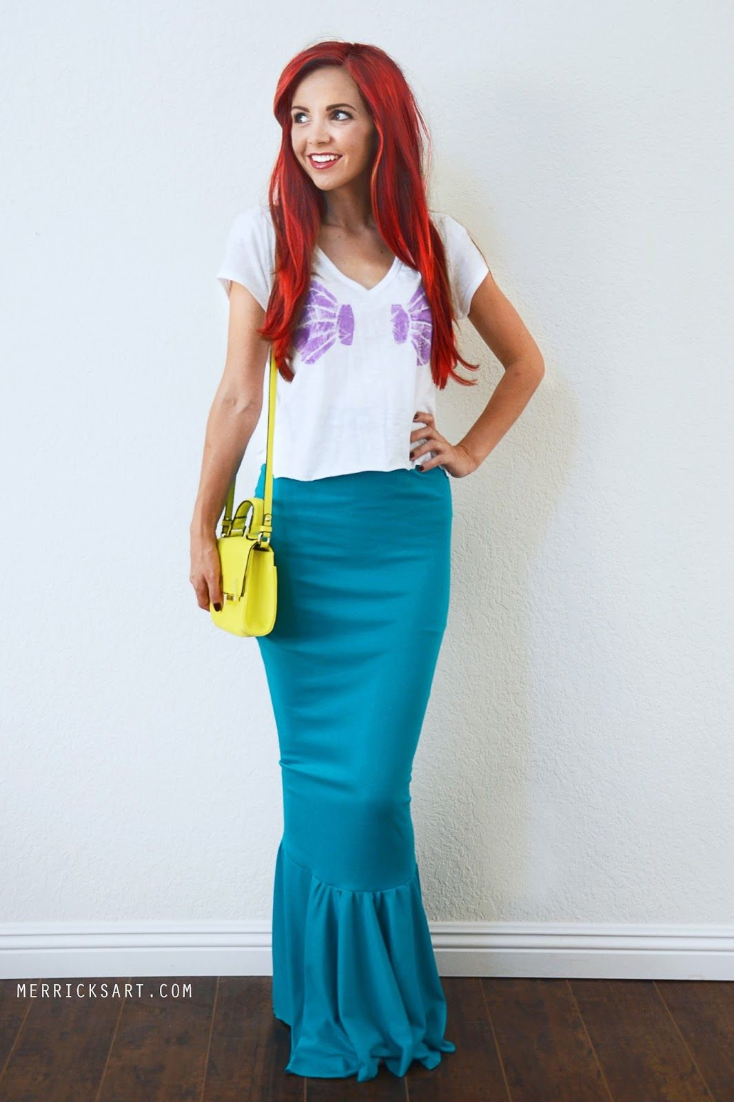 Princess Ariel Costume For Adults Part - 18: DIY DISNEY PRINCESS HALLOWEEN COSTUMES