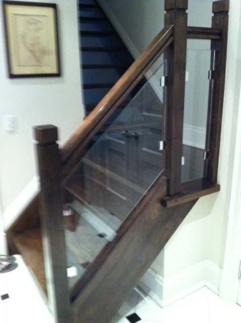Best Wood And Glass Railing Home Decor New Homes Glass Railing 400 x 300