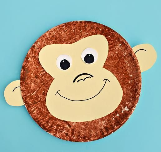 Monkey Face Paper Plate Craft | Paper plate crafts, Monkey and Face