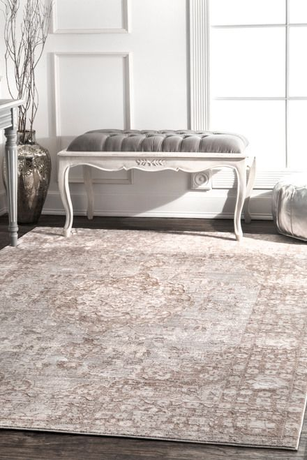 Rugs Usa Beige Silky Road Medallion Rug The 100 Polyester