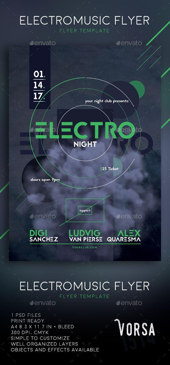 Electronic Music Flyer Music flyer, Electronic music and Flyer - music flyer