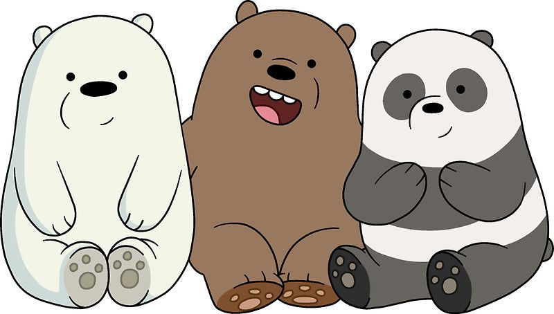We Bare Bears Cubs Babies Kartun Beruang Kutub