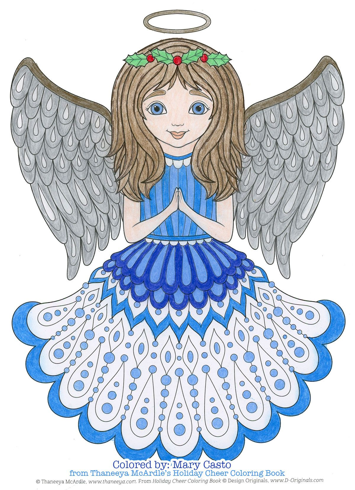Christmas angel coloring page from Thaneeya McArdle's ...