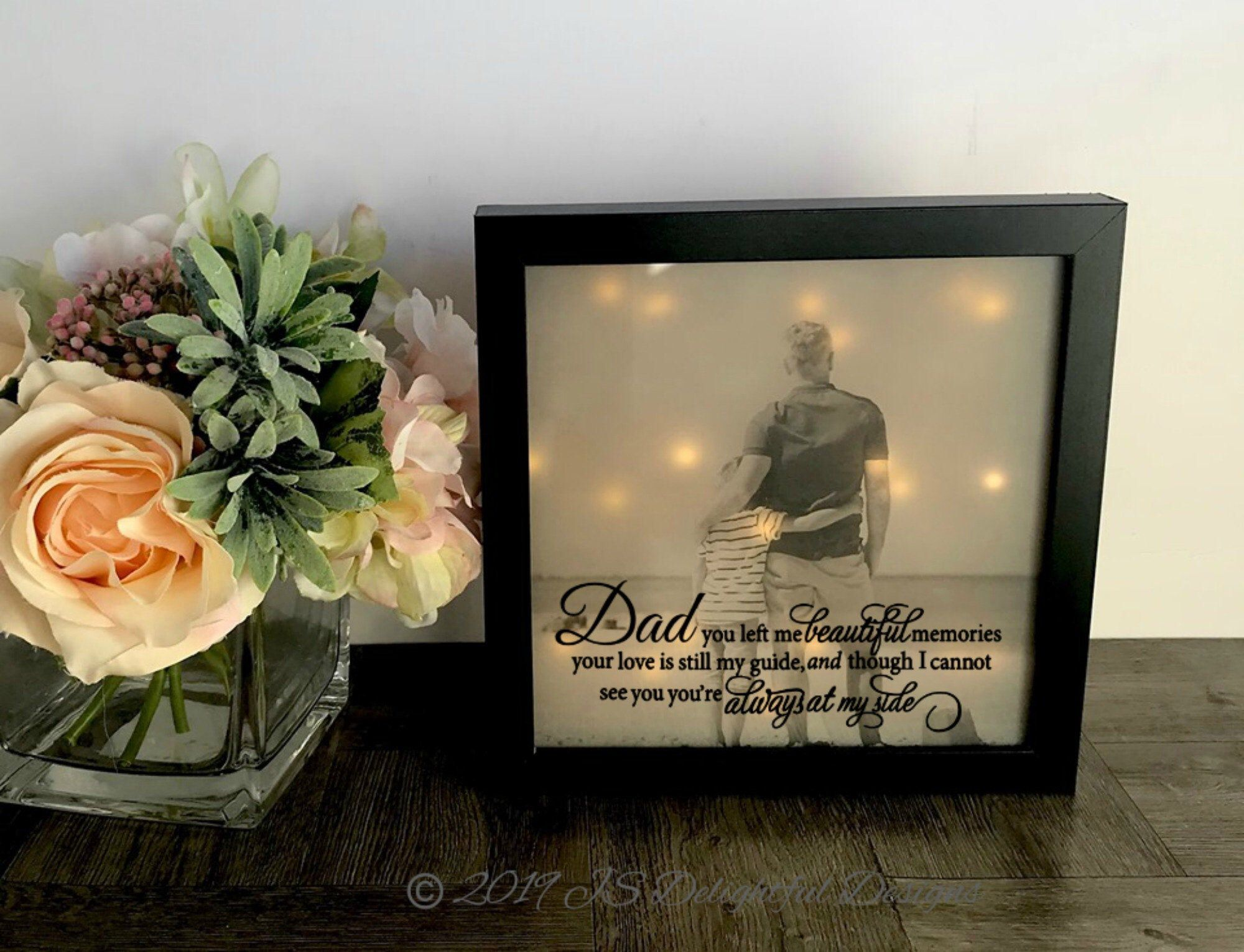 Loss of dad loss of father sympathy gift memorial frame