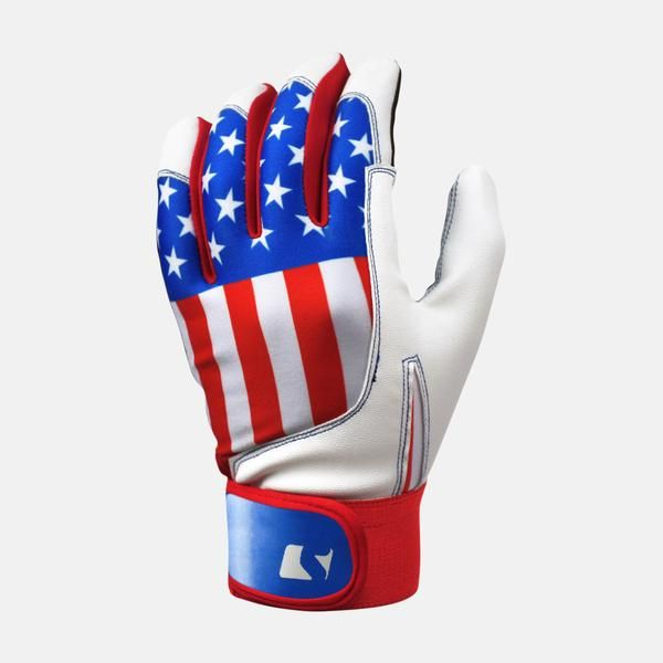 american flag baseball batting gloves