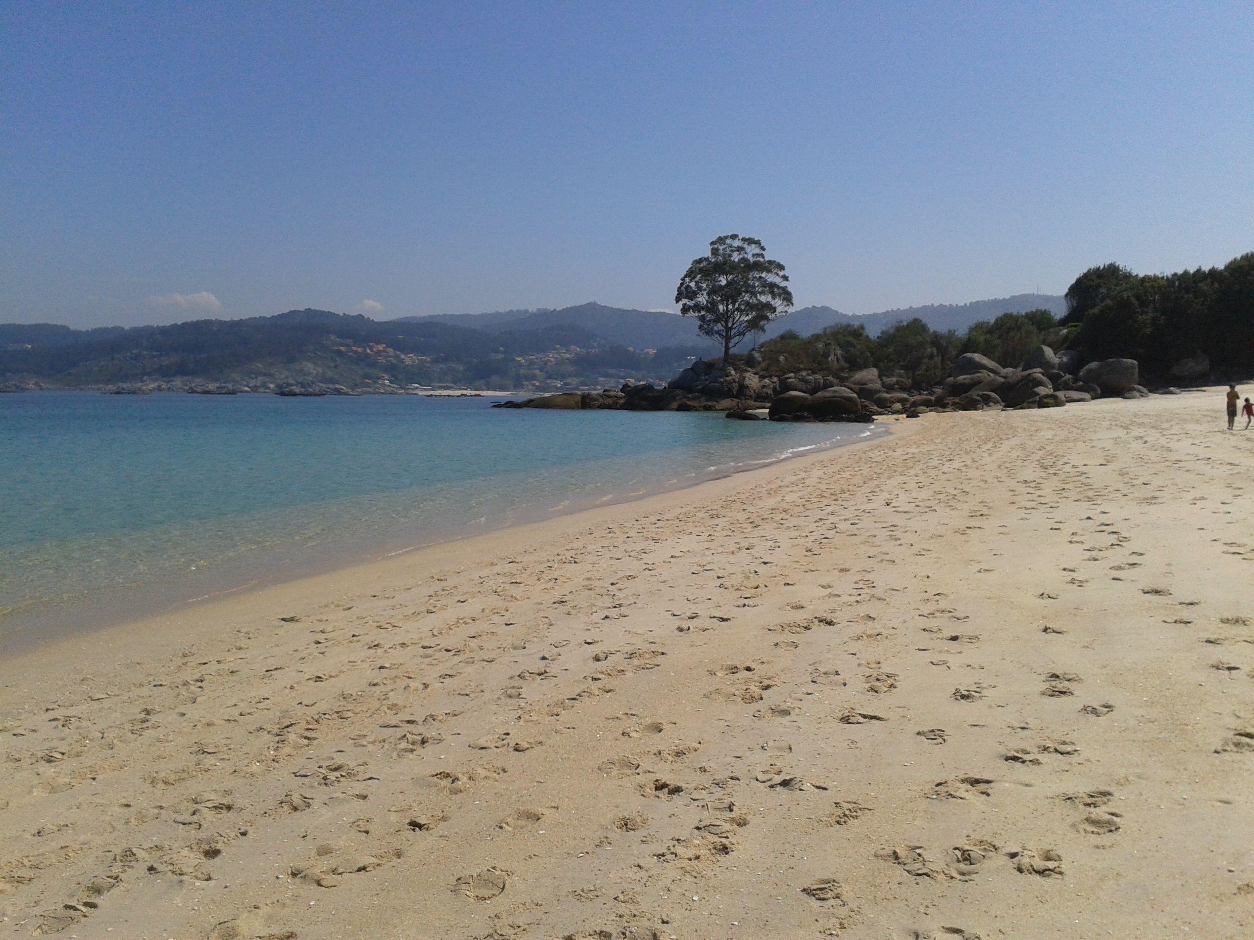 Playa De Area Brava Io Pontevedra Playa Fotos