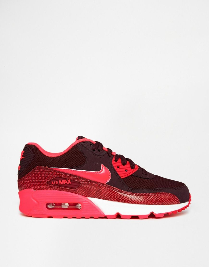 Image 2 of Nike Air Max 90 Orange Trainers Chaussures Pinterest