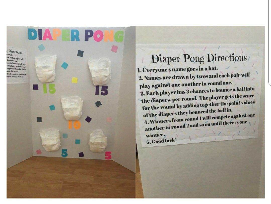 Diaper Pong In 2019 Cute Baby Shower Games Baby Shower