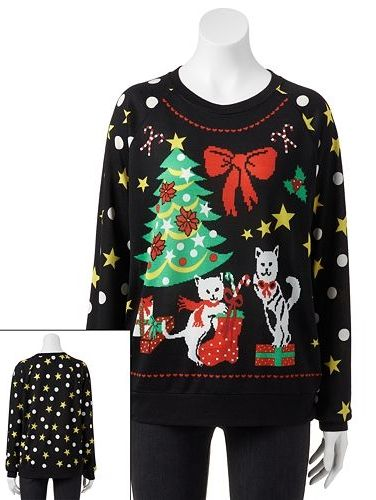 Freeze Ugly Christmas Sweatshirt Juniors Kohls Christmas