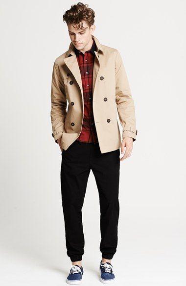 f77d81bb6738 Topman Double Breasted Mac Jacket